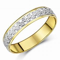 5mm 9ct yellow white gold two tone designer wedding ring band two colour at elma uk jewellery