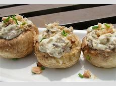 salmon and chive stuffed mushrooms_image