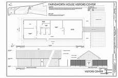farnsworth house plan site map plan and south east elevations edith