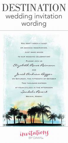Destination Wedding Invitations When To Send