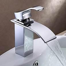 Robinet Bain Contemporary Centerset Waterfall With Ceramic Valve Single