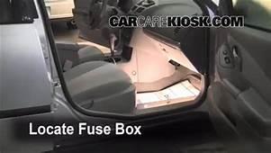 Interior Fuse Box Location 2004 2008 Chevrolet Malibu