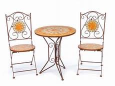 gartentisch und stühle garnitur gartentisch 2 st 252 hle eisen fliesen mosaik garten tisch stuhl antik stil kaufen