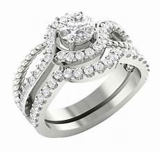 14k white gold si1 g 1 75tcw real diamond unique bridal