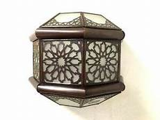 moroccan frosted glass bronze wall sconce l shade ebay
