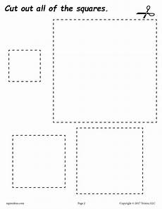 12 printable shapes cutting worksheets supplyme