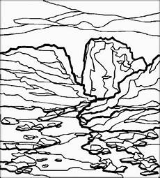 Malvorlagen Landschaften Gratis Felsige Landschaft Ausmalbild Malvorlage Landschaften