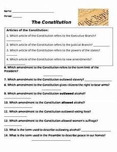 constitutional amendment worksheet by miller tpt