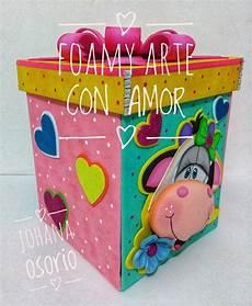cajas explosiva en foamy por johana osorio fofuchas cajas decoradas de carton caja de goma