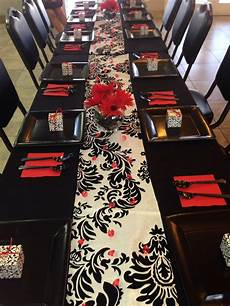 bridal shower decor red black and white for future