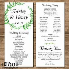 Wedding Ceremony Order