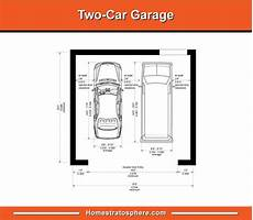 dimensions two car garage standard garage dimensions for 1 2 3 and 4 car garages diagrams
