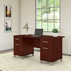 walmart home office furniture bush furniture somerset 60w office desk in hansen cherry