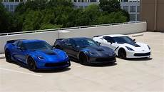 3 vettes rooftop c7 z06 c7 grand sport collector edition