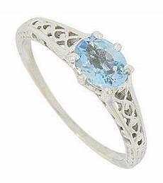 style 14k white gold aquamarine engagement ring