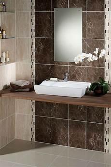 brown bathroom tile