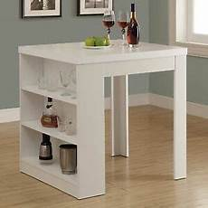 wood counter height table with shelf storage island