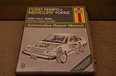 service manuals schematics 1985 ford tempo parking system ford tempo mercury topaz 1984 83 1994 vehicle repair book haynes manual 36078 for sale