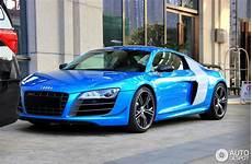 audi r8 bleu la premi 232 re audi r8 v10 china edition est formidable en bleu