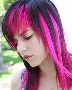 pink and black hairstyles