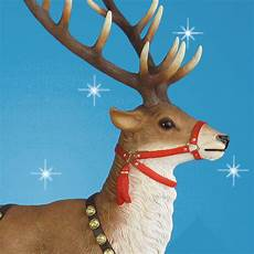 66 5in high outdoor sleigh reindeer pair set of two