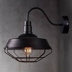 sconce wall light l cage vintage iron outdoor barn gooseneck edison lighting ebay