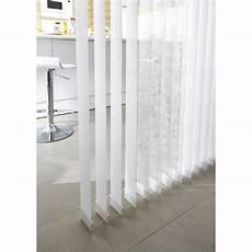 5 Lamelles Verticales Orientables Perle Blanc L 40 X H