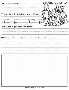 printable sight word worksheets sight words reading writing spelling worksheets
