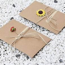 diy retro envelope kraft paper flowers handmade postcard blessings combination greeting cards