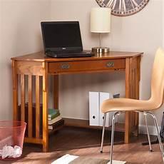 corner computer desk mission oak