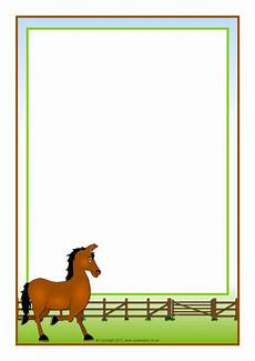 Malvorlage Pferd A4 Themed A4 Page Borders Sb7326 Sparklebox