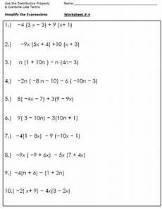 algebra worksheets for simplifying the equation algebra worksheets simplifying expressions