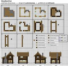 minecraft houses plans woodland hut small minecraft house blueprint by