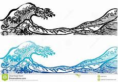 Japanisches Bild Welle - japanese style waves stock vector image 43887824