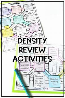 worksheets on measurement 1540 density review activities matter science middle school sketch notes