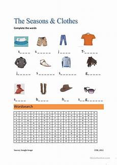 worksheets seasons and clothes 14754 the seasons and clothes worksheet free esl printable worksheets made by teachers