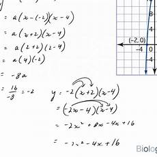 how to write a quadratic equation in standard form when a