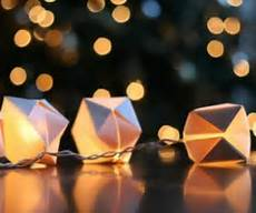 Gorgeous Diy Paper Cube String Lights rattan string lights