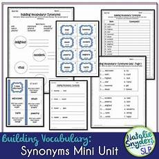 building vocabulary synonyms for upper elementary middle school