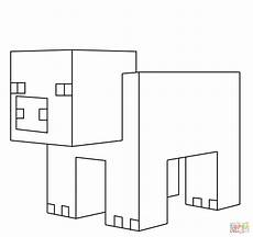 minecraft pig from minecraft coloring page free coloring