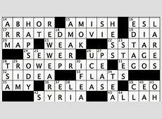 la crossword answers for today