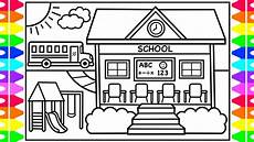 school coloring pages 17623 how to draw a school for back to school drawing for school coloring pages