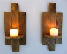 pair of 48cm reclaimed pallet wood floating shelf wall