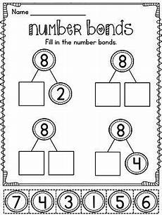 2nd grade math worksheet number bonds 1166 best cut and paste class work images on