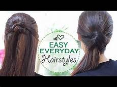 easy hairstyles everyday easy everyday hairstyles youtube