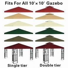 gazebo replacement cover canopy replacement top 10 x10 patio pavilion gazebo