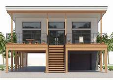 house on stilts plans beach house plan coastal home plan four bedrooms
