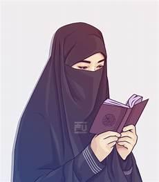 Gambar Kartun Muslimah Untuk Wallpaper Lucu Bercadar