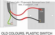 White And Black Two Wire Wiring Diagram Insulated by One Way Switched Lighting Circuits