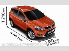 Dimensions of Ford cars showing length, width and height